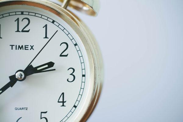 Timex alarm clock set to 2:38