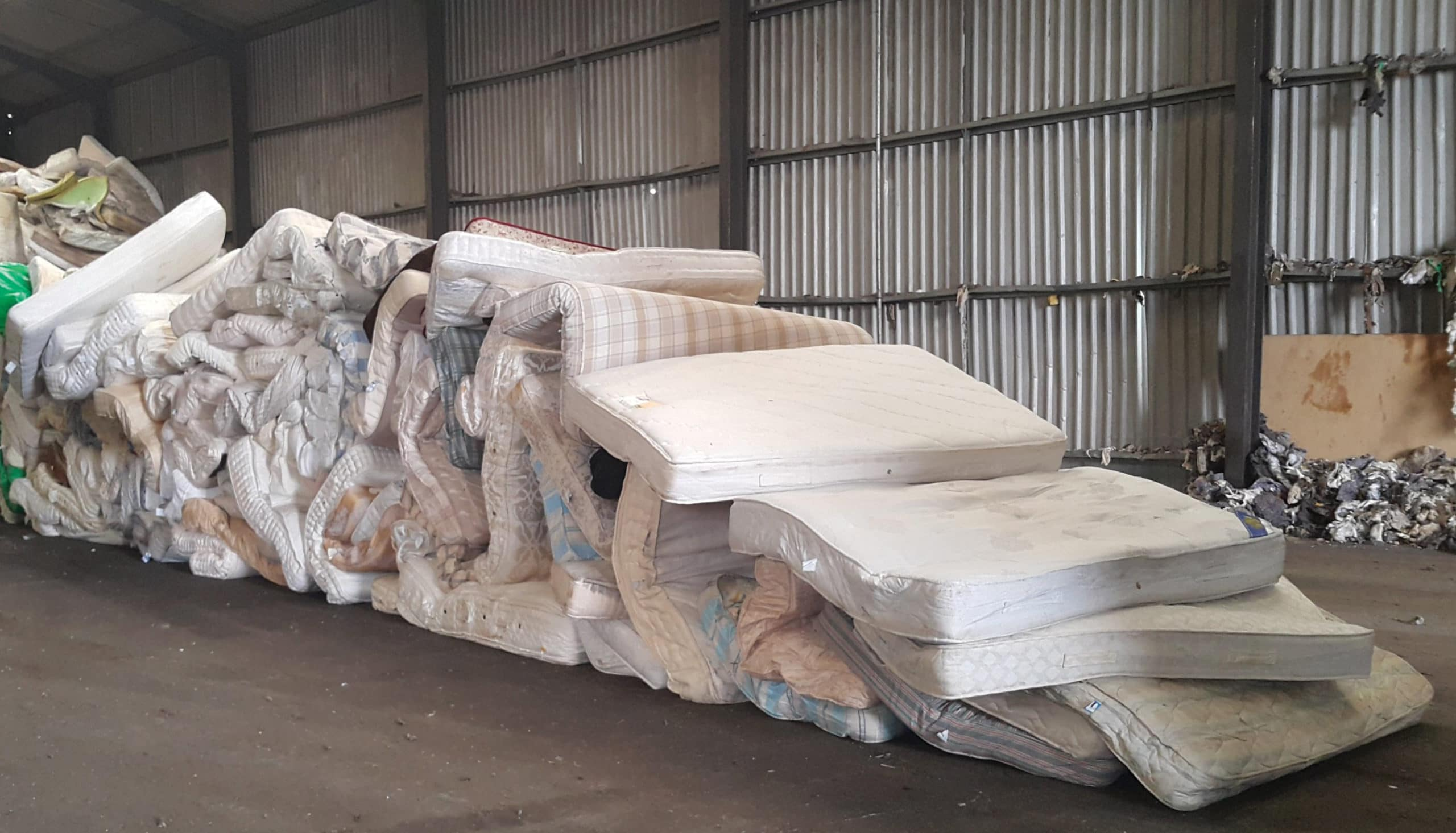 Mattress Recycling in Progress