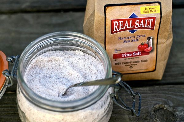 Natural sea salt jar