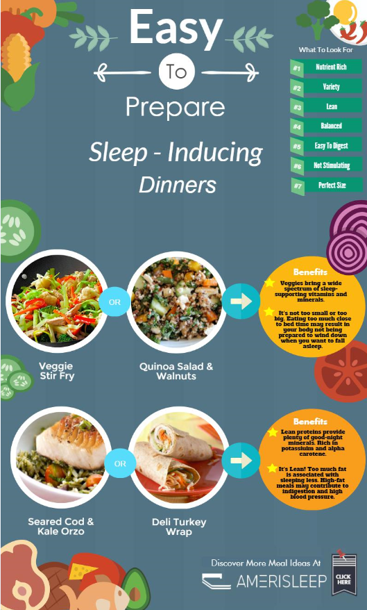 Easy to Prepare Sleep-Inducing Dinners