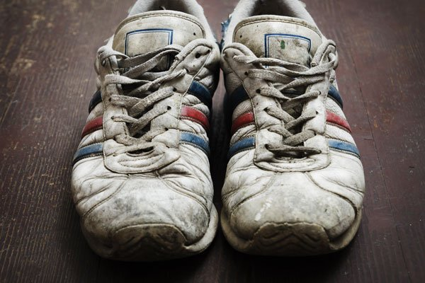 old pair of running shoes