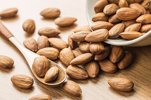 Almonds are a truly balanced snack that will leave you satisfied with only a small handful.