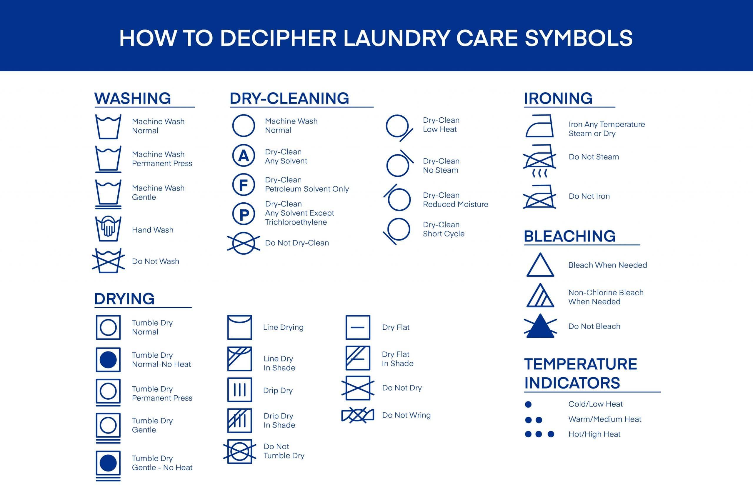 laundry care and washing symbols amerisleep amerisleep
